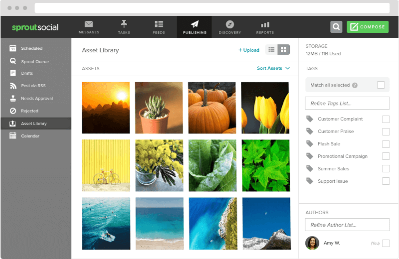 Social media scheduling tools - Sprout Social image editor