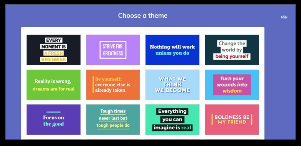 Lumen5 theme for Instagram templates screenshot