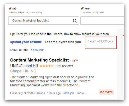 content marketing specialist jobs on indeed