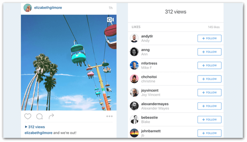 example of how to monitor views on a instagram live