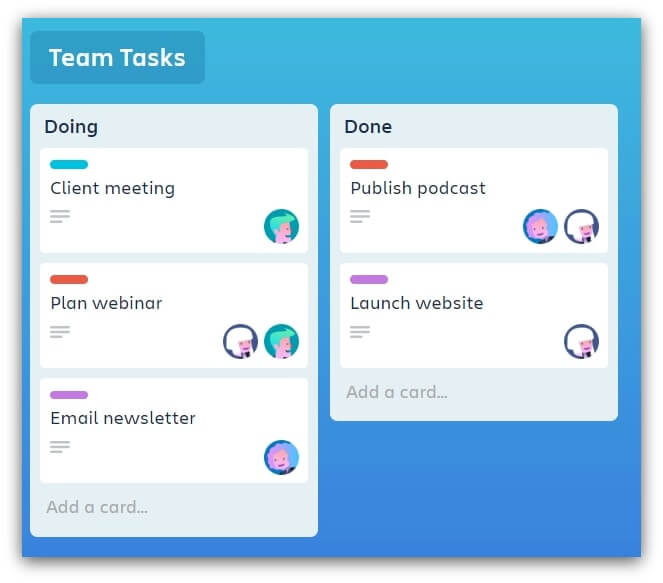Trello-team-tasks