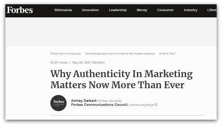 video marketing authenticity
