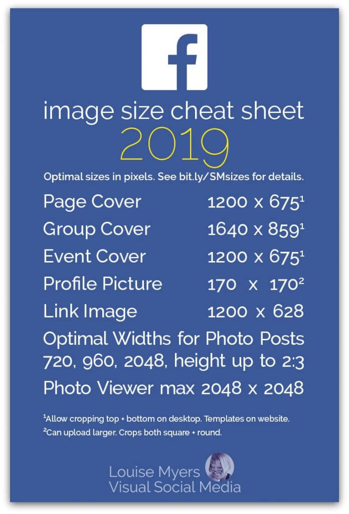 image size cheat sheet