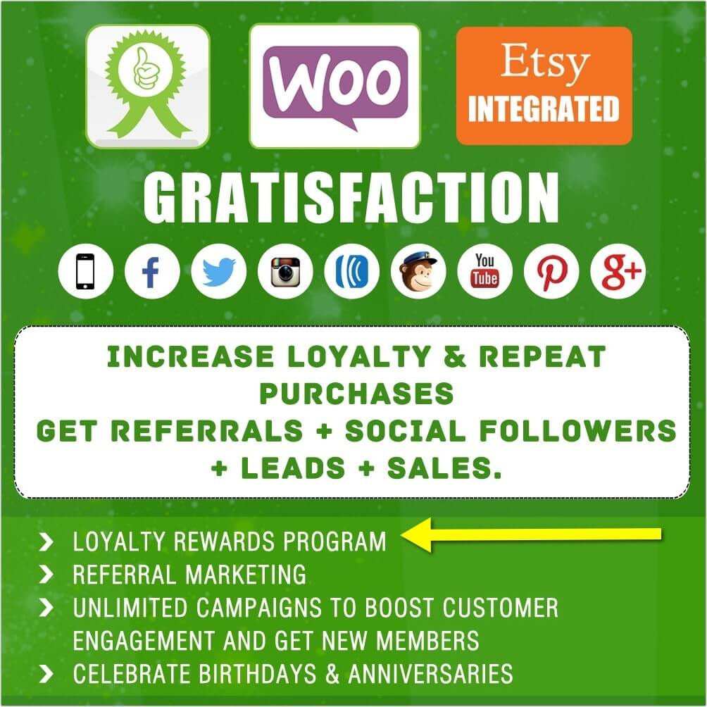 Gratisfaction- Loyalty, Rewards , Referral and Giveaway Program for WooCommerce