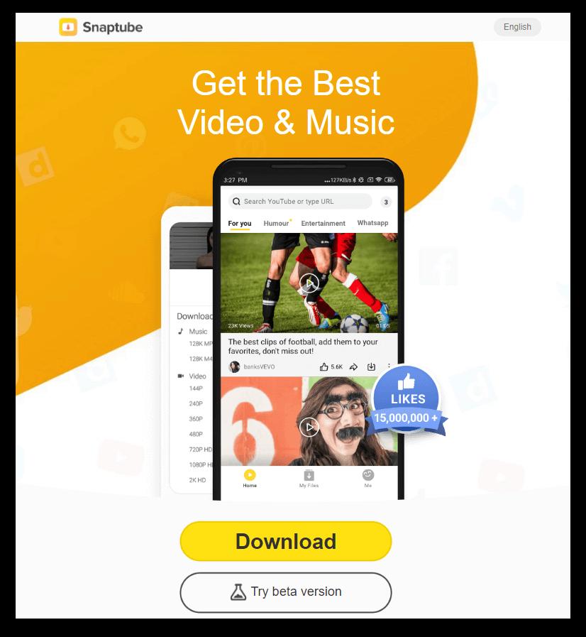 Snaptube-Homepage